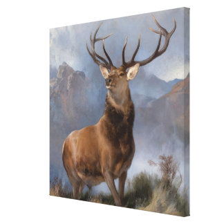 Vintage The Monarch of the Glen by Edwin Landseer Canvas Print