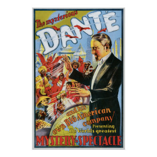 Vintage The Mysterious Dante Poster