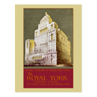 Vintage The Royal York Hotel Toronto Postcard