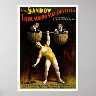Vintage The Sandow Trocadero Vaudevilles Poster