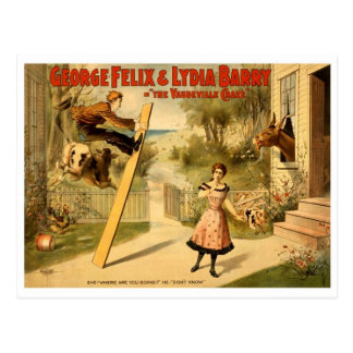 Vintage - The Vaudeville Craze Postcard