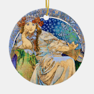 Vintage Theater Advertisement Princess Hyacinth Round Ceramic Ornament