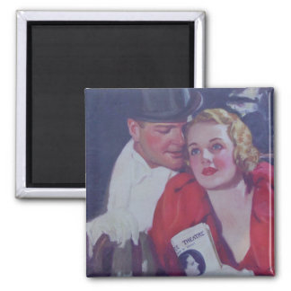 Vintage Theater Couple Magnet