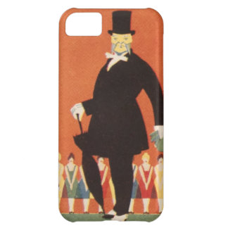Vintage Theater Play Top Hat Man Gregory Brown Cover For iPhone 5C