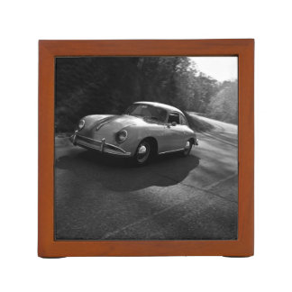Vintage Themed, A Vintage Car On A Winding Road In Desk Organizer