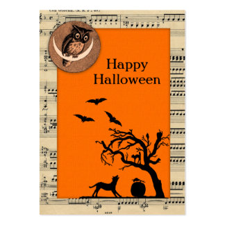 Vintage Themed Halloween Gift Tags Large Business Card