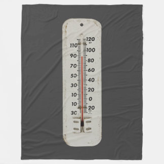 vintage thermometer fleece blanket