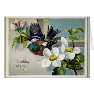 Vintage Thinking Of You All Occasion Birthday Card