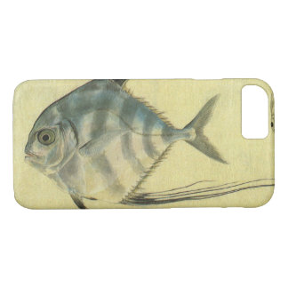 Vintage Threadfin Trevally, African Pompano Fish iPhone 7 Case