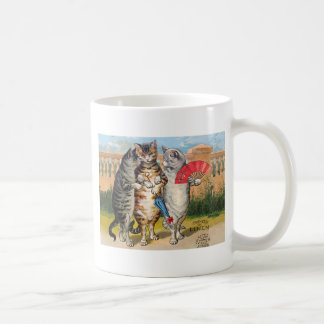 Vintage Three Little Kittens Lost Mittens Coffee Mug