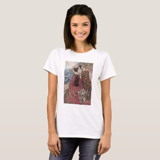 Vintage - Three Women Looking Out to Sea, T-Shirt