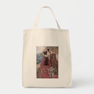 Vintage - Three Women Looking Out to Sea, Tote Bag