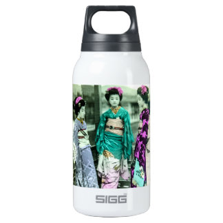Vintage Three Young Geisha in Old Japan Insulated Water Bottle