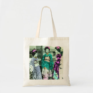 Vintage Three Young Geisha in Old Japan Tote Bag