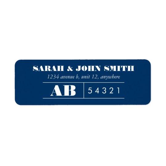 Vintage Ticket Design Address Label Sticker