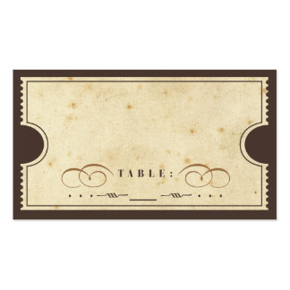 Vintage Ticket Escort Card Business Card