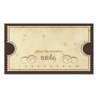 Vintage Ticket - Punch Card Escort Card Business Card