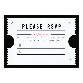 Vintage Ticket RSVP in Black Card