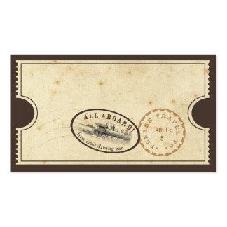 Vintage Ticket - Train Escort Card Business Card