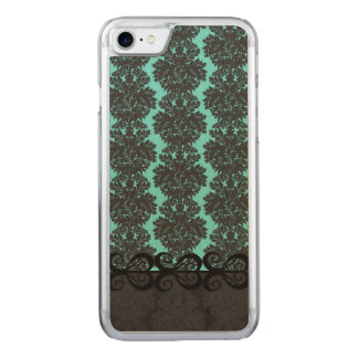 Vintage Tiffany Blue Damask Carved iPhone 8/7 Case