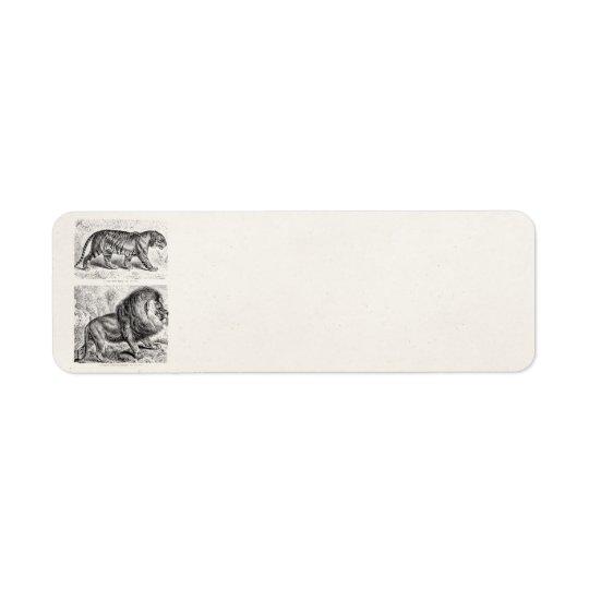 Vintage Tiger Illustration Tigers Template Return Address Label