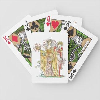 Vintage Tigerlily Lady Goddess Playing Cards