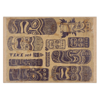 Vintage Tiki Set Cutting Board