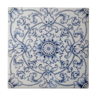 Vintage Tile Victorian Transferware in Delft Color