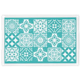 Vintage Tiles rectangular tray