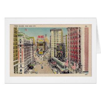 Vintage Times Square Postcard