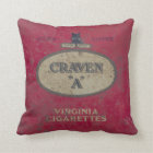 Vintage tin throw pillow