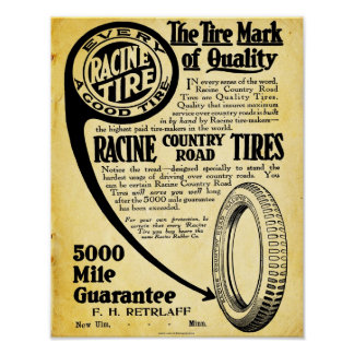 Vintage Tire Sign - Racine Tire Company