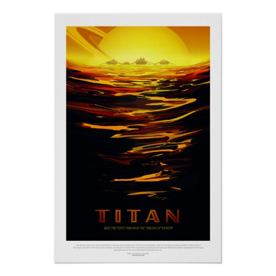 Vintage Titan Space Travel Poster