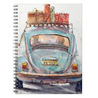 vintage to car notebook