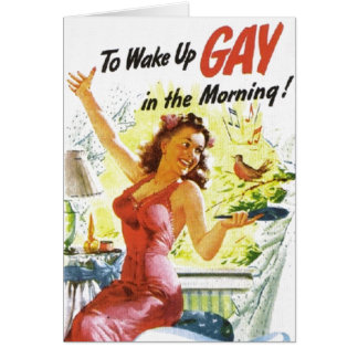 """Vintage """"To Wake Up Gay"""" Card"""