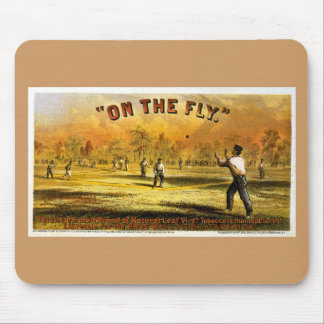 "Vintage Tobacco Ad ""On The Fly"" 1867 Mouse Pad"