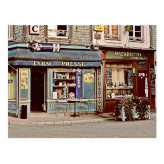 Vintage tobacco shop & wine bar in France Normandy Postcard