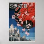 Vintage Tokyo travel Poster
