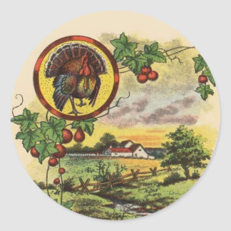 Vintage Tom Turkey Farm Thanksgiving Stickers