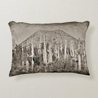 Vintage Tonto Mountains and Saguaro Accent Pillow