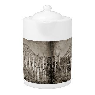 Vintage Tonto Saguaros Mountain Tea Pot