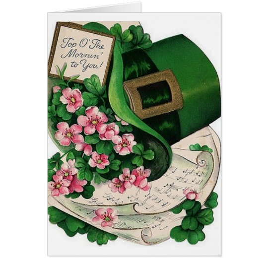 Vintage Top O The Mornin' St. Patrick's Day Card
