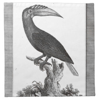 Vintage toucan bird etching printed napkins