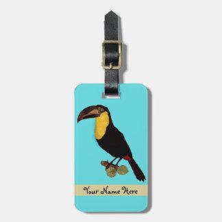 VINTAGE TOUCAN BIRD. TOUCAN TRAVEL NAME TAG