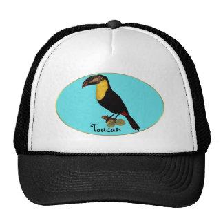 VINTAGE TOUCAN BIRD. YELLOW-THROATED TOUCAN CAP TRUCKER HAT