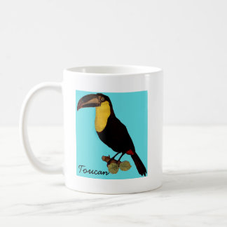 VINTAGE TOUCAN BIRD. YELLOW-THROATED TOUCAN COFFEE MUG