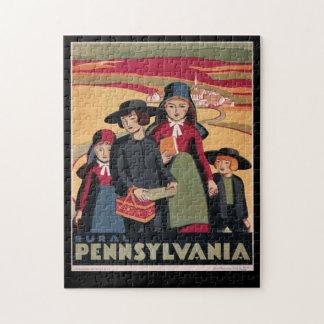 Vintage Tourism Rural Pennsylvania Amish Jigsaw Puzzle