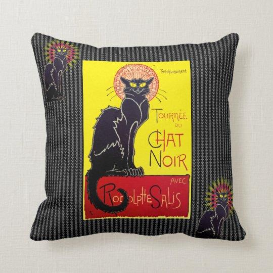 Vintage Tournee du Chat Noir Cabaret Cat Cushion
