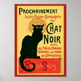 Vintage Tournée du Chat Noir Theophile Steinlen Affiche