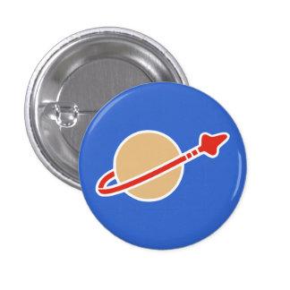 Vintage Toy Brick Space Astronaut Symbol 1 Inch Round Button